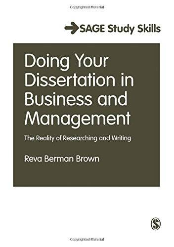 Dissertation skills business management students