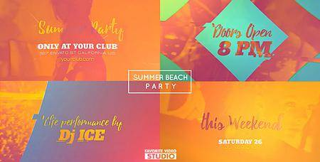 Summer Beach Party 2016 - Project for After Effects (VideoHive)