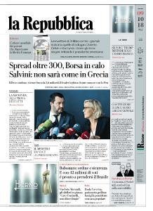 la Repubblica - 9 Ottobre 2018