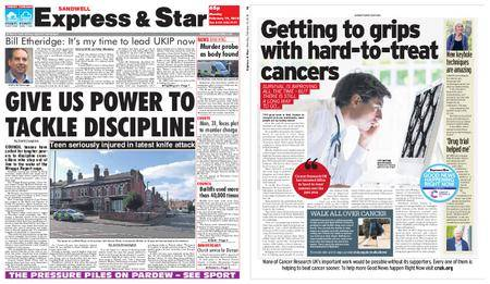 Express and Star Sandwell Edition – February 19, 2018