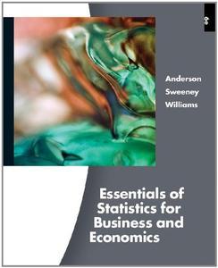 Essentials of Stratistics Forbusiness & Economics