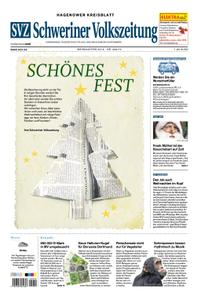 Schweriner Volkszeitung Hagenower Kreisblatt - 24. Dezember 2019