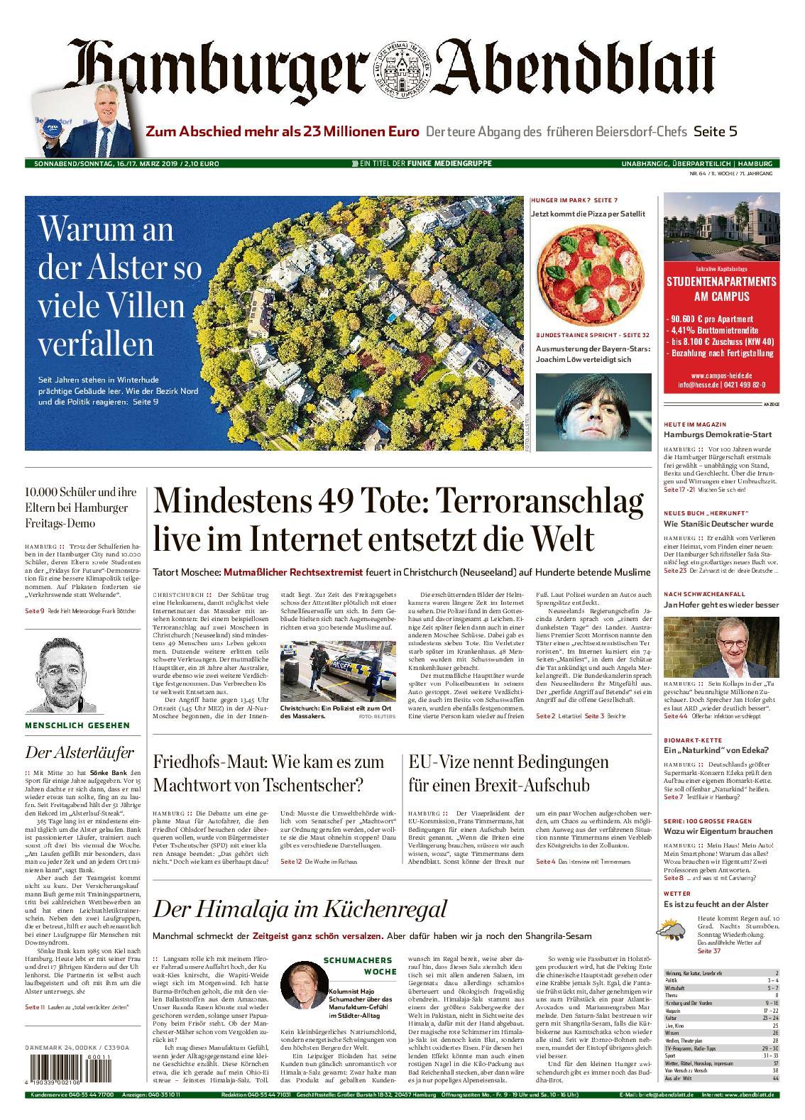 Hamburger Abendblatt Elbvororte - 16. März 2019