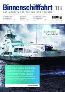 Binnenschifffahrt - November 2017