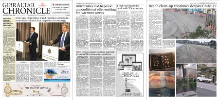 Gibraltar Chronicle – 21 April 2020