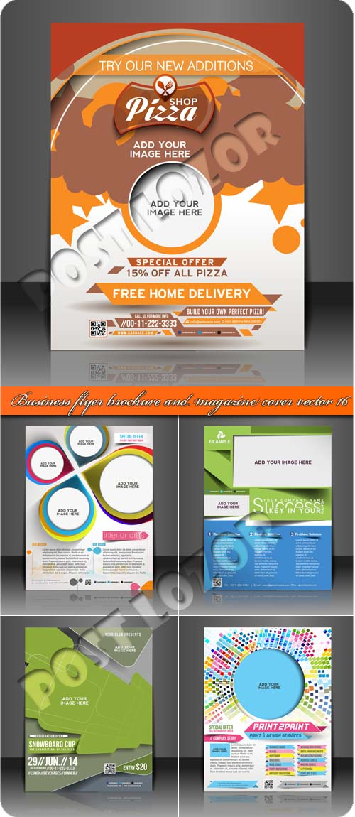 Business flyer brochure and magazine cover vector 16