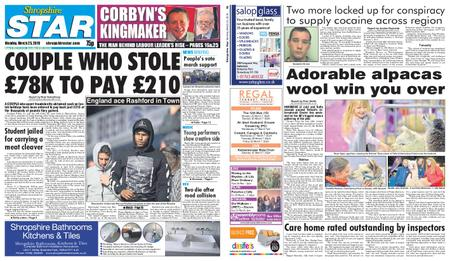 Shropshire Star Shrewsbury Edition – March 25, 2019