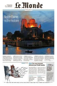 Le Monde du Mercredi 17 Avril 2019