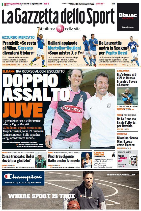 La Gazzetta dello Sport (12-08-11)