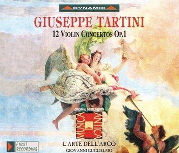 Tartini - 12 Violin Concertos, Op.1 (Giovanni Guglielmo, L'Arte dell' Arco) [1996]