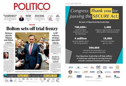 Politico – January 28, 2020