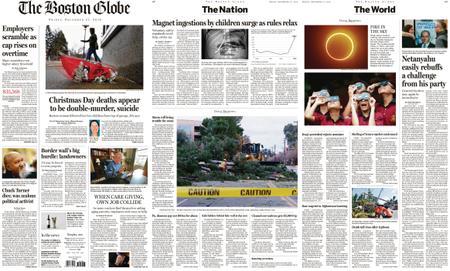 The Boston Globe – December 27, 2019