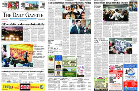 The Daily Gazette – March 15, 2019