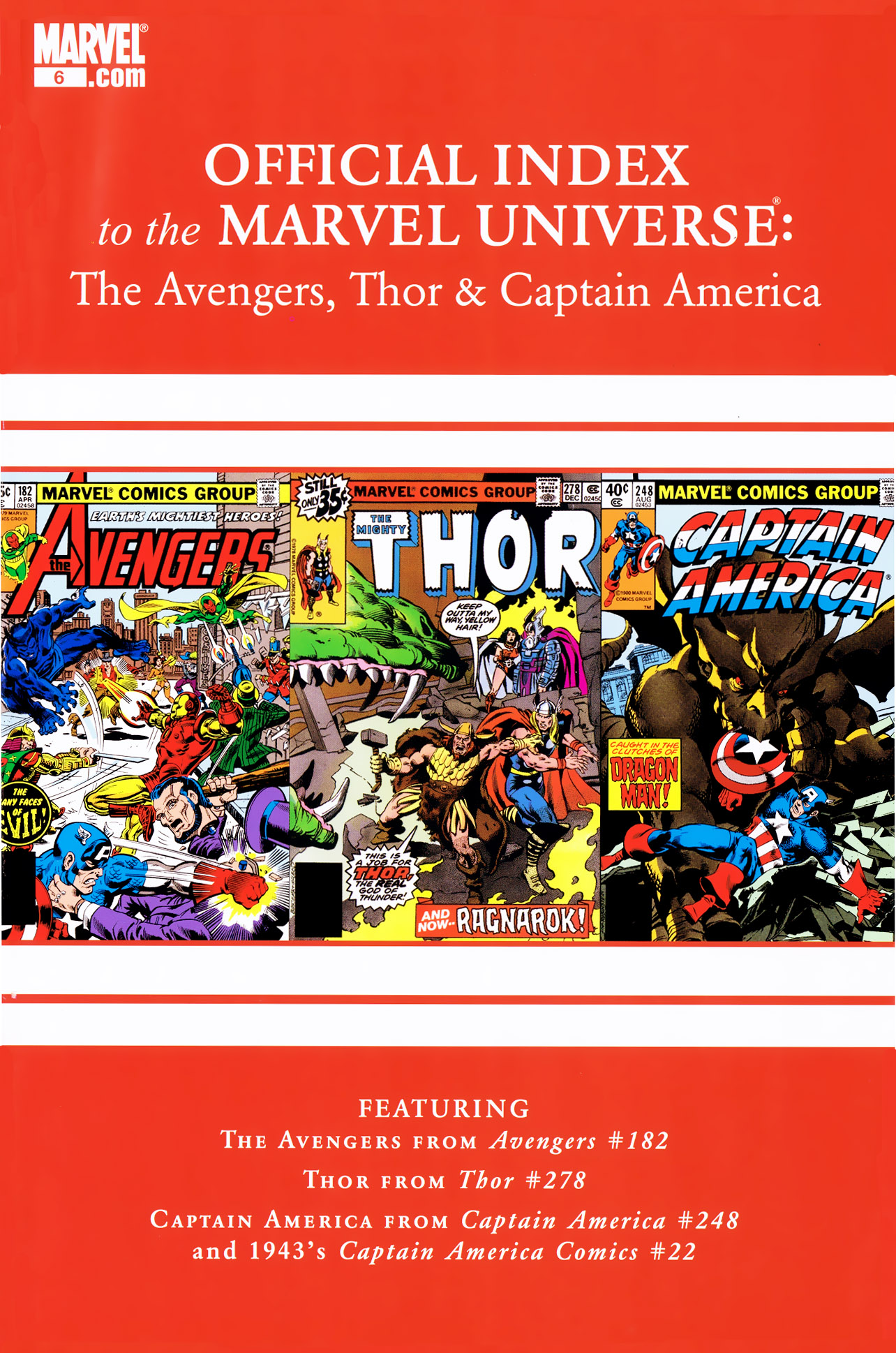 Avengers Thor & Captain America – Official Index to the Marvel Universe #6