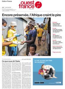 Ouest-France Édition France – 23 mars 2020
