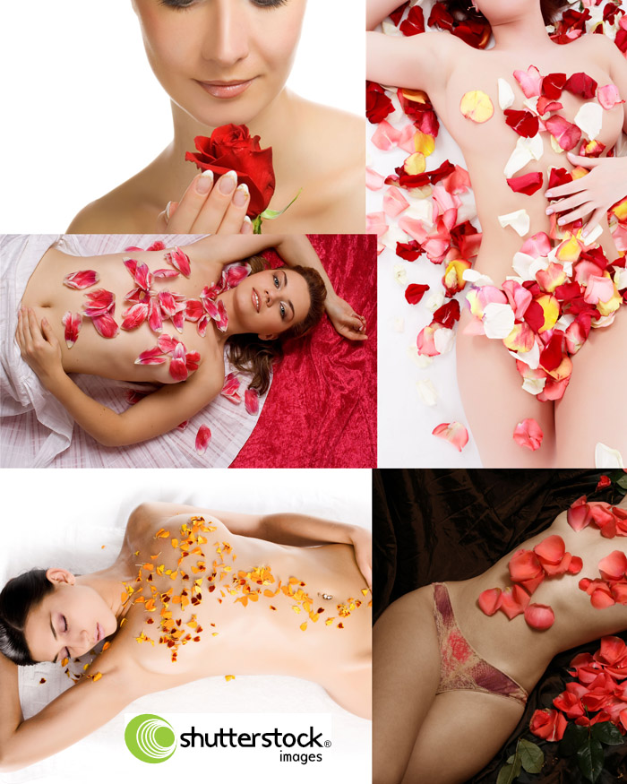 Awesome SS - Girls in the petals of roses