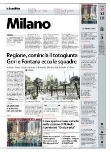 la Repubblica Milano - 2 Marzo 2018