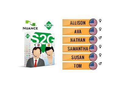 Nuance Vocalizer Expressive S2G + 6 American English Voices Premium