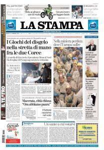 La Stampa Torino Provincia e Canavese - 10 Febbraio 2018