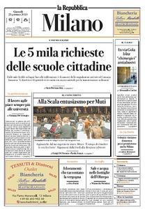 la Repubblica Milano - 23 Gennaio 2020