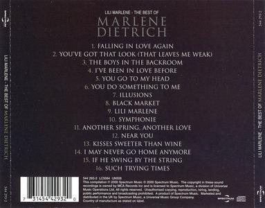 Marlene Dietrich - Lili Marlene: The Best of Marlene Dietrich (2000) [Re-Up]