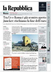 la Repubblica - 2 Ottobre 2018