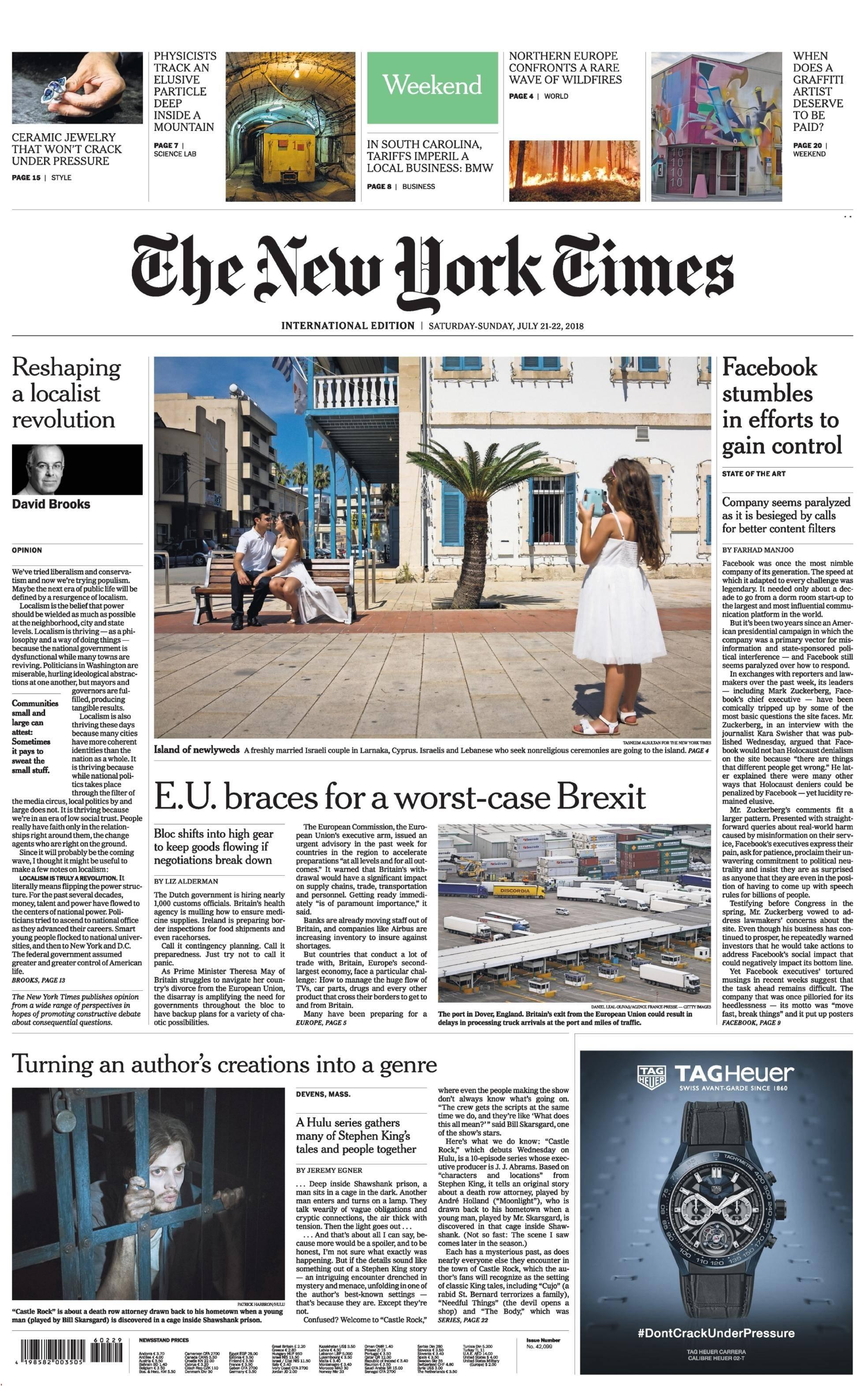International New York Times - 21 July 2018