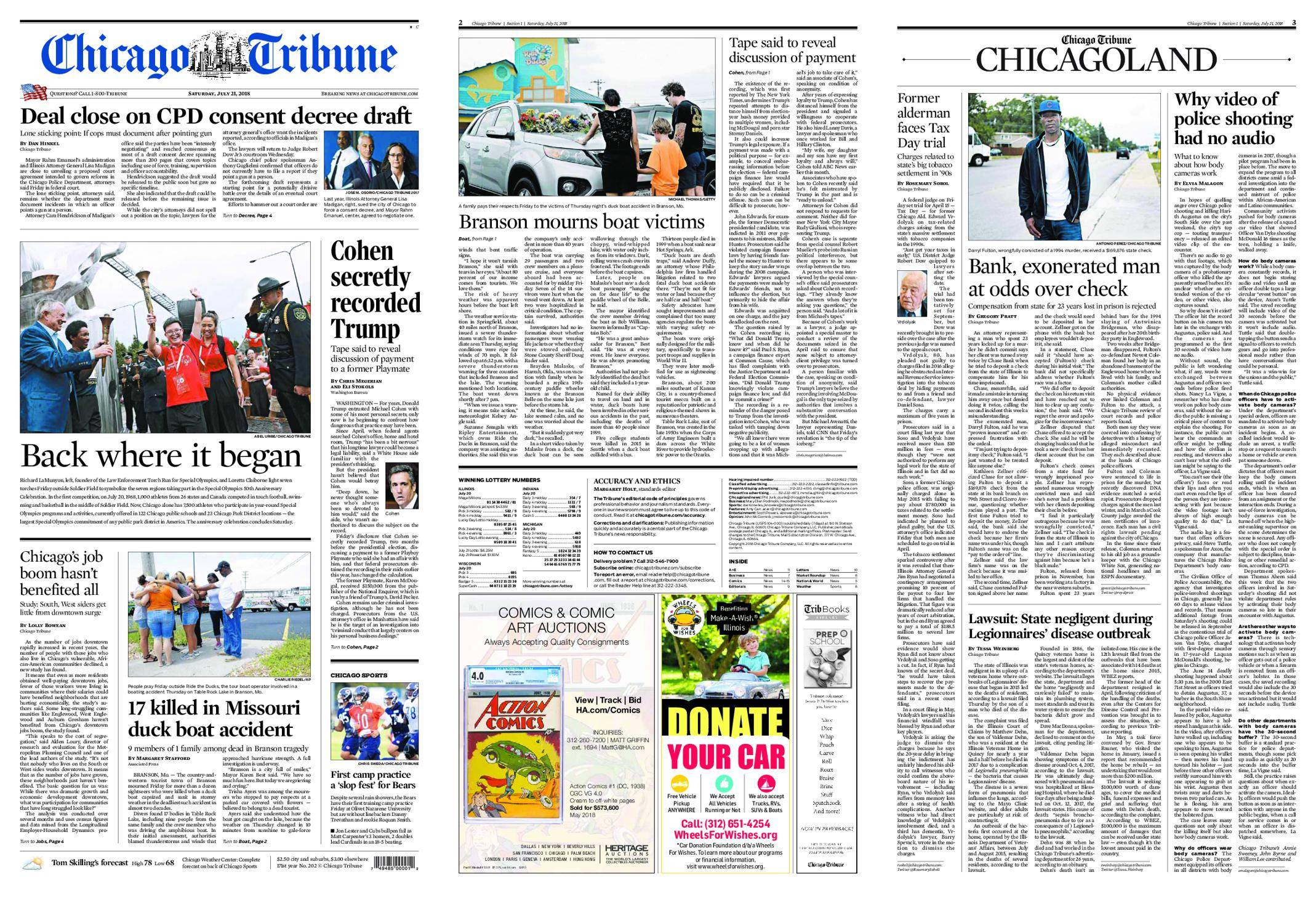 chicago tribune highly recommended - HD 2138×1468
