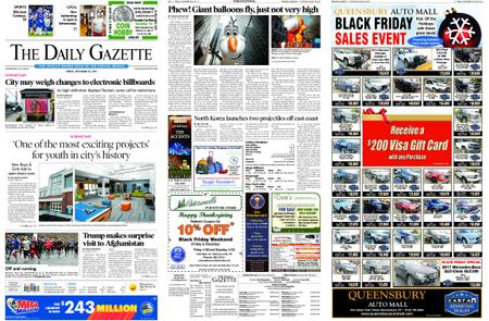 The Daily Gazette – November 29, 2019