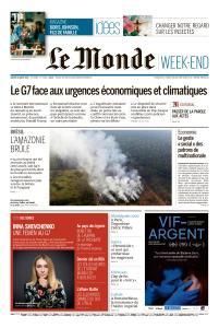 Le Monde du Samedi 24 Août 2019
