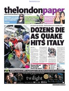 The London Paper 6 April 2009