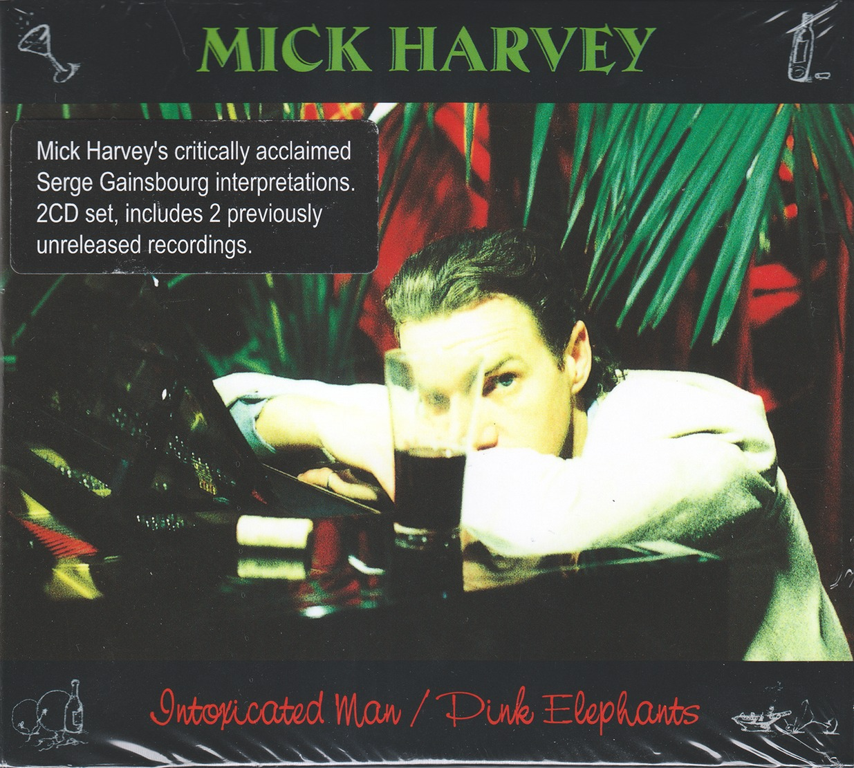 Mick Harvey - Intoxicated Man & Pink Elephants (2014) {2CD Set Mute Records CDSTUMM331 rel 1995, 1997}