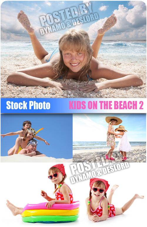 Kids on the beach 2 - UHQ Stock Photo