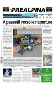 La Prealpina - 18 Aprile 2020