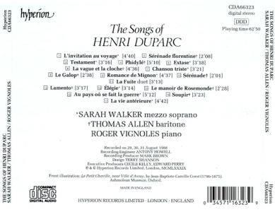 Sarah Walker, Thomas Allen, Roger Vignoles - The Songs of Henri Duparc (1989)