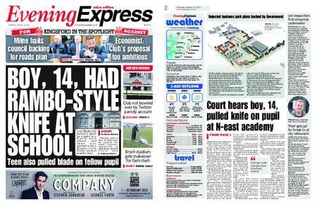 Evening Express – January 18, 2018