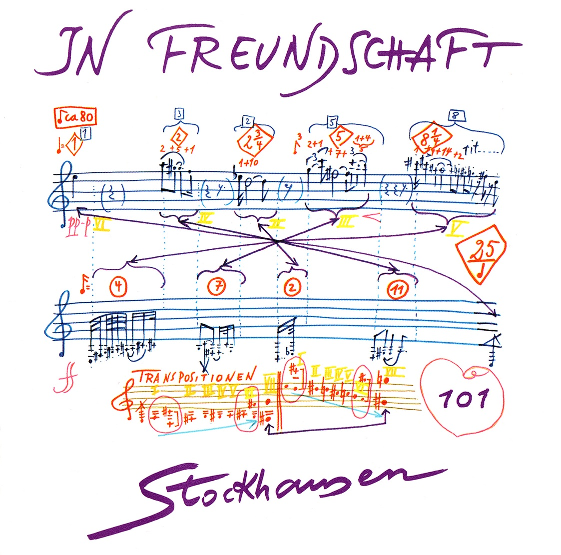 Karlheinz Stockhausen - In Freundschaft für Blockflöte, Fagott, Horn, Kontrabass (2012) {Stockhausen-Verlag No. 101}