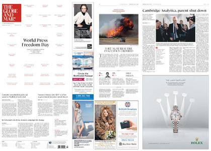 The Globe and Mail – May 03, 2018