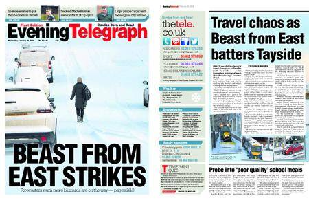 Evening Telegraph First Edition – February 28, 2018