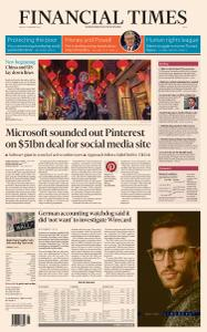 Financial Times Asia - February 12, 2021