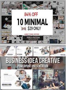 CreativeMarket - 10 MINIMAL PowerPoint