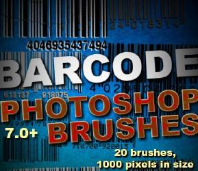 Barcode brushes for Photoshop