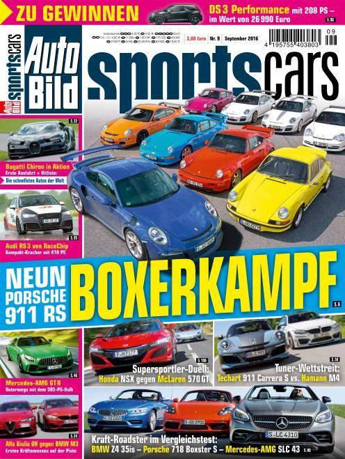 Auto Bild Sportscars - September 2016