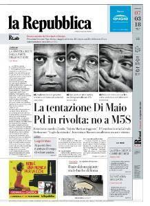 la Repubblica - 7 Marzo 2018