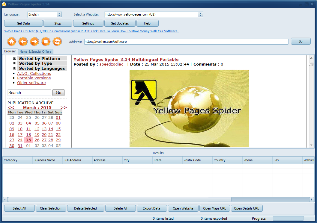 Yellow Pages Spider 3 46 Multilingual + Portable / AvaxHome