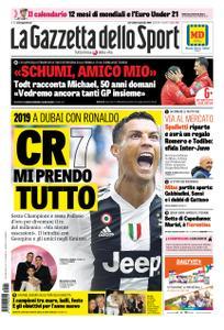 La Gazzetta dello Sport Roma – 02 gennaio 2019