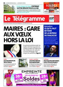 Le Télégramme Landerneau - Lesneven – 08 janvier 2020