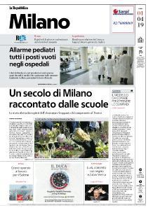 la Repubblica Milano - 1 Aprile 2019