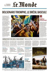 Le Monde du Mardi 30 Octobre 2018