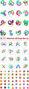 Vectors - Abstract 3D Logo Set 33